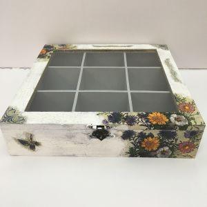 Ξύλινο χειροποιητο κουτί για φακελάκια τσαγιού η διαφορα μικροαντικείμενα