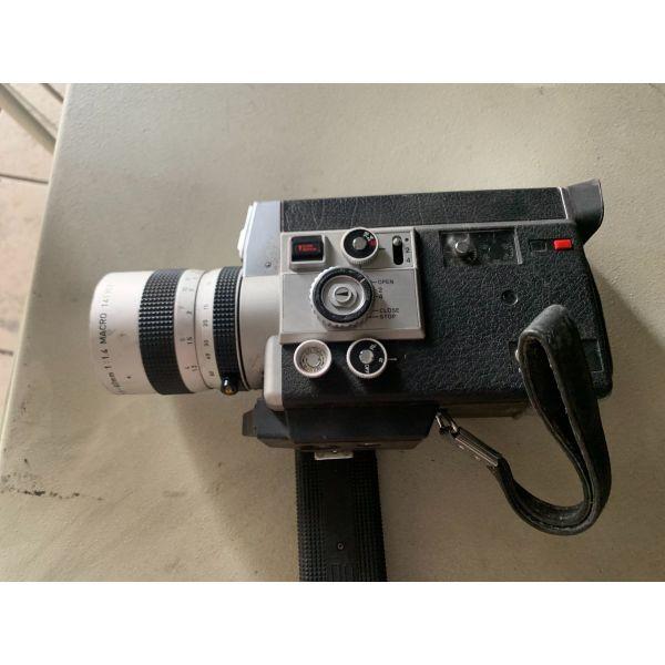 Canon 814 E Electronic auto manual zoom super 8 mm movie film camera + lens vintage 1970 70's foriti kamera