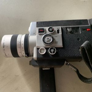 Canon 814 E Electronic auto manual zoom super 8 mm movie film camera + lens vintage 1970 70's φορητή κάμερα