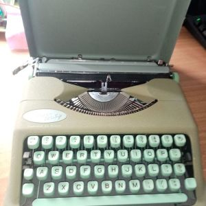 Hermes Γραφομηχανή Mint Green Hermes Baby Hard Case