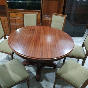 Trapezi μασίφ+6 καρέκλες.Δυν.Μεταφορας