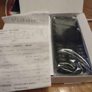 Κινητό Nokia 210 μαύρο με πλήκτρα αχρησιμοποίητο σε άριστη κατάσταση