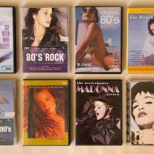 ΣΥΛΛΟΓΗ 1 ΜΟΥΣΙΚΑ DVDs με τραγούδια 80s - 90s. Άπαιχτα σε άριστη κατάσταση.
