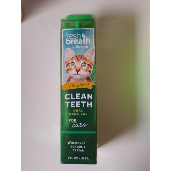 Tropiclean gia gates Fresh Breath Clean Teeth - Gel odontikou katharismou 59Ml