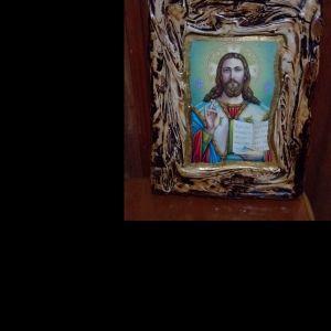 Ξυλογλυπτη Εικονα χριστου