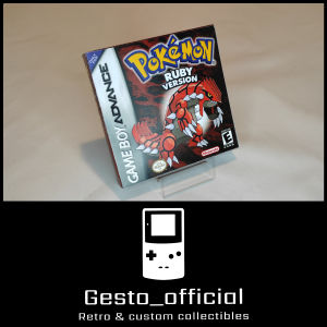 Pokemon Ruby Gameboy Advance custom box Gesto_official