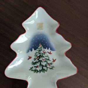 χριστουγεννιάτικο διακοσμητικο πορσελάνης.