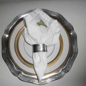 8 Δαχτυλίδια για πετσέτες φαγητού από Κασσίτερο