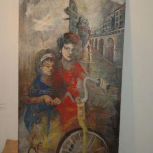 Πινακας ζωγραφικής μεγάλος.1,90 χ 0,90
