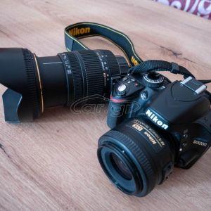 Nikon D3200 + Nikkor 35mm f1,8 + Sigma 17-50 f2,8 + Τσάντα μεταφοράς