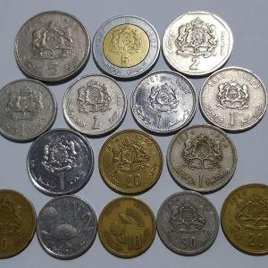 15 νομίσματα από Μαρόκο