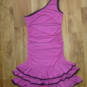 S φούξια μίνι φόρεμα