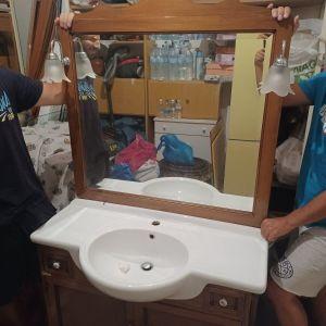 Έπιπλο μπάνιου + νιπτήρας