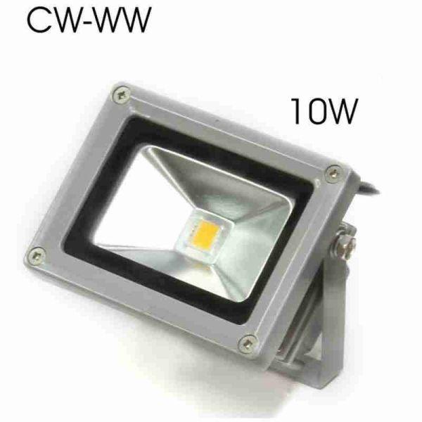 provoleas LED steganos CW/WW 10W/230V   (diathesima 60 tmch CW ke 30 tmch WW)