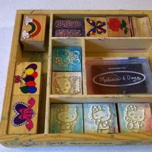 Melissa & Doug Wooden Stamp Set