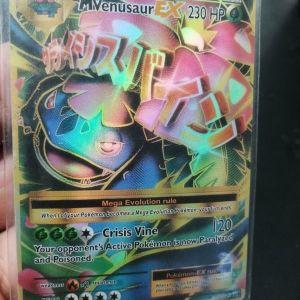 MVenusaur EX συλλεκτική κάρτα pokemon