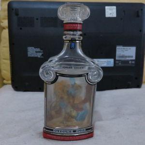 Ουζουνης  αδειο μπουκαλι απο ουζο με σχεδιο απο Κιονα