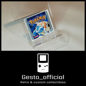 Pokemon Blue ανταλλακτικό αυτοκόλλητο για την κασέτα Gesto_official