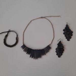 Κολιέ με σκουλαρίκια και βραχιόλι