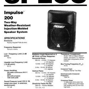 """ζευγαρι Peavey Impulse 200  12"""""""