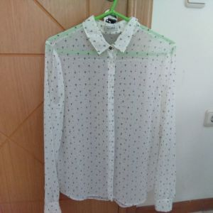Γυναικείο πουκάμισο διαφανές μέγεθος large