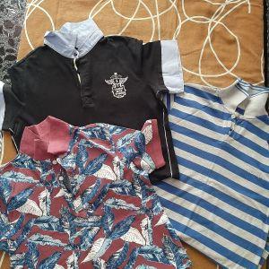 παιδικα μπλουζάκια μακο με γιακά νο xs