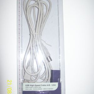 USB High Speed Cable A-B-3,0cm