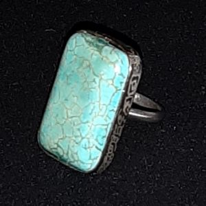Ασημένιο δαχτυλίδι με τυρκουας