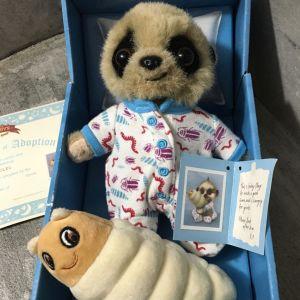 Oleg meerkat toy + certificate, Μεταχειρισμένο καλή κατάσταση