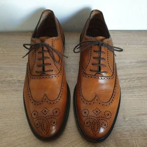 Fratelli Rossetti Brown Leather Oxfords Size 46 Made in ITALY Ανδρικα Παπουτσια Δερμα