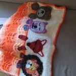 χειροποίητη πλεκτή παιδική κουβέρτα
