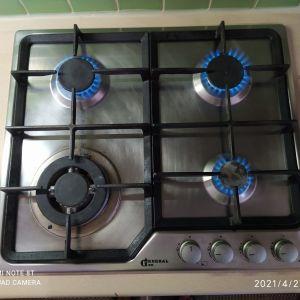 Εστία κουζίνα υγραερίου General Gas F6V4GTX με 4 εστίες made in Italy