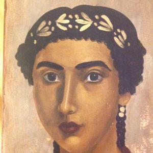 Πορτρέτο Φαγιούμ, αυγοτέμπερα σε μασίφ ξύλο.