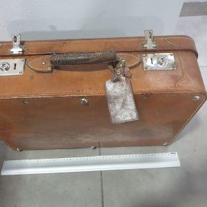 Δερμάτινη βαλίτσα 1960s