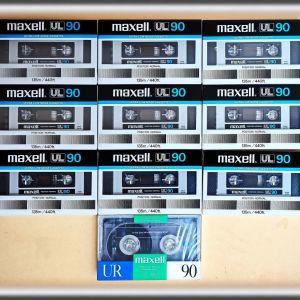 Κασέτες ήχου σφραγισμένες, Maxell 9x UL90 Japan -&- 1x UR90 Κorea