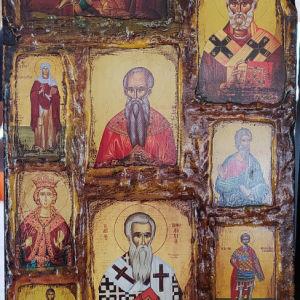 Βυζαντινή σύνθεση με λιθογραφιες! (63*25εκ.)