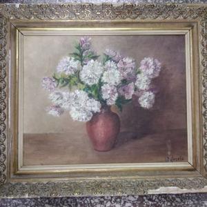 πίνακας ζωγραφικής ελαιογραφία σε χαρντμπολ με διαστάσεις 54 Χ 64 και καθαρές διαστάσεις 39 Χ 49 εκατοστά