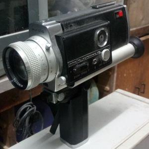 ΒΙΝΤΕΟΚΑΜΕΡΑ super8   minolta autodak- 8   D6 ,η κλασσικη παλια αναλογικη βιντεοκαμερα της Μινολτα, με μπαταριες, λειτουργει κανονικα, κορωπι, δεκτος ο ελεγχος