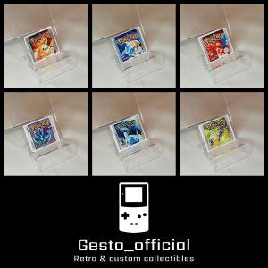Pokemon Red, Blue, Yellow, Gold, Silver, Crystal ανταλλακτικό αυτοκόλλητο για την κασέτα Gesto_official