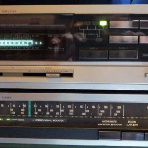 ΣΕΤ ΕΝΙΣΧΥΤΉ+RADIO...JVC A-K300M+T-K100L...( Made In Japan )