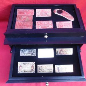 Όμορφη συλλογή από 12 πιστά ασημένια αντίγραφα των πιο σπάνιων και χαρακτηριστικών ελληνικών νομισμάτων από την εταιρία MAILINK.