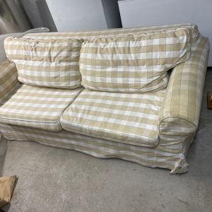 Καναπές με διπλό κρεβάτι. Αλλαγη υφασματος