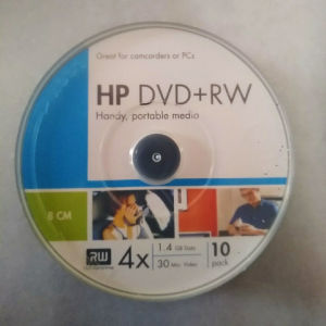 Πακέτο 10 τεμ. Mini DVD+RW για κάμερα.