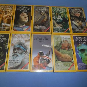 NATIONAL GEOGRAPHIC 10 VHS Z2