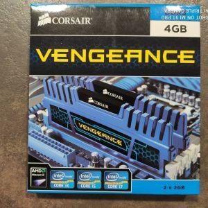 Μνήμη RAM DDR3 2x2gb 1600 Mhz Corsair Vengeance
