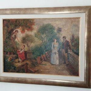 Πίνακας Ζωγραφικής εποχής από το ζωγράφο Ανδρέα Ρηγόπουλο