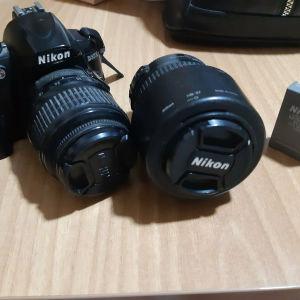 επαγγελματική φωτογραφική μηχανή μαζί με 2ο φακό για πορτρέτα!!!