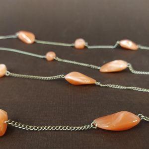 Κολιέ με Πορτοκαλί πέτρες