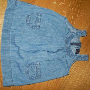 zara baby τζιν φορεματακι για 6-9μηνων