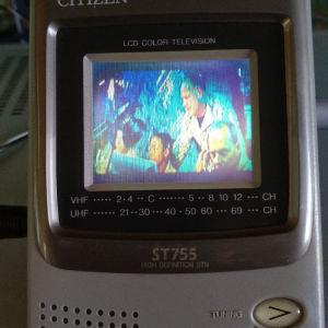 Citizen ST755 mini lcd color tv 2.2'